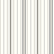 Inspired By Color™ Black & White Wide Pinstripe Wallpaper, White With Black