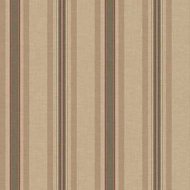 Inspired By Color™ Red Multi Pinstripe Wallpaper, Brown With Red