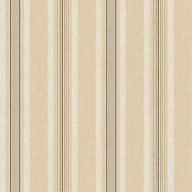 Inspired By Color™ Beige Multi Pinstripe Wallpaper, Beige With Brown