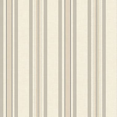 Inspired By Color™ Beige Multi Pinstripe Wallpaper, Beige With Black