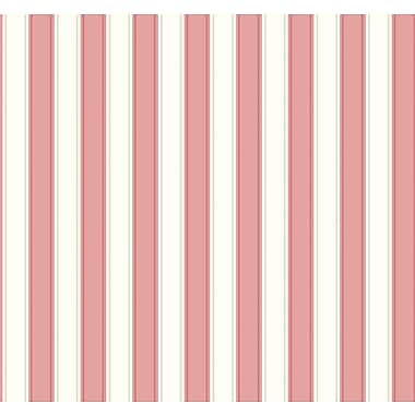 Inspired By Color™ Pink & Purple Silk Stripe Wallpaper, Pink With White