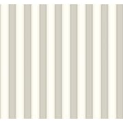Inspired By Color™ Beige Silk Stripe Wallpaper, Black With White