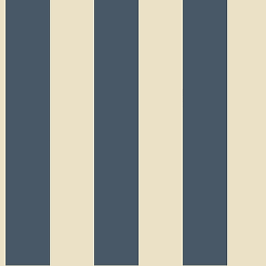 Inspired By Color™ Blue 3 Stripe Wallpaper, Blue With White(Cream)
