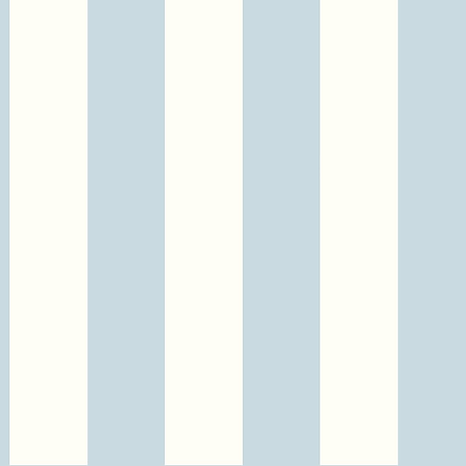 Inspired By Color™ Blue 3 Stripe Wallpaper, Light Blue With White