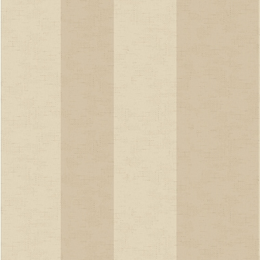 Inspired By Color™ Beige Wide Stripe Wallpaper, Brown