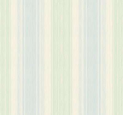 Inspired By Color™ Blue Stria Wallpaper, Blue With Green