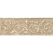 Inspired By Color™ Borders Arch Scroll Border, Soft Sage Green With Tan/Light Brown/Cream