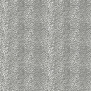 Inspired By Color™ Black & White Leopard Spot Wallpaper