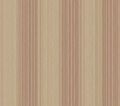 Inspired By Color™ Red Multi Colored Textile Stripe Wallpaper, Light Brown With Red