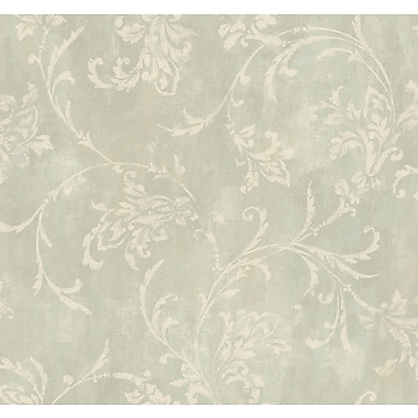 Inspired By Color™ Green Copper Damask Wallpaper, Green