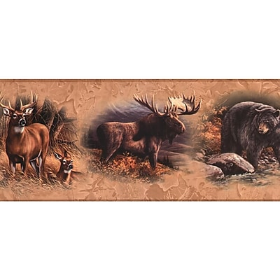 Inspired By Color™ Borders N. American Animals Border, Tan With Black/Brown