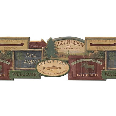 Inspired By Color™ Country & Lodge Rustic Lodge Signs Border, Brown
