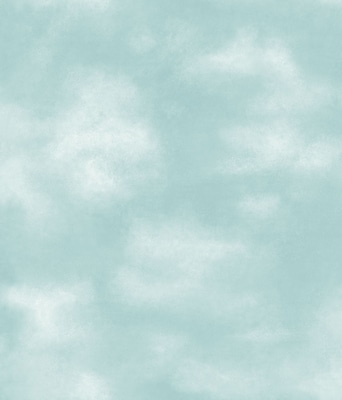 Inspired By Color™ Kids Clouds Wallpaper, Deep Blue With White
