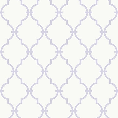 Inspired By Color™ Pink & Purple Trellis Wallpaper, White With Purple