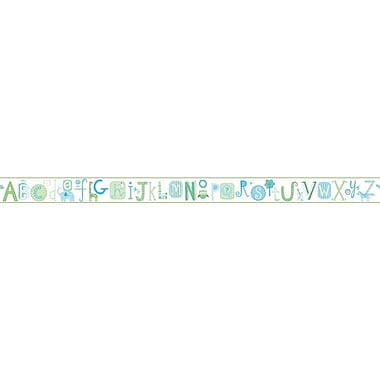 Inspired By Color™ Borders Alphabet Border, Off White With Powder Blue/Green/Blue