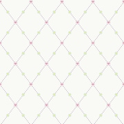 Inspired By Color™ Kids Hearts & Harlequins Wallpaper, Off White With Pink/Purple/Green/Soft Teal