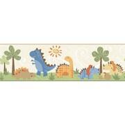Inspired By Color™ Kids Babysaurus Border, Beige With Orange/Blue/Brown/Green/Tan