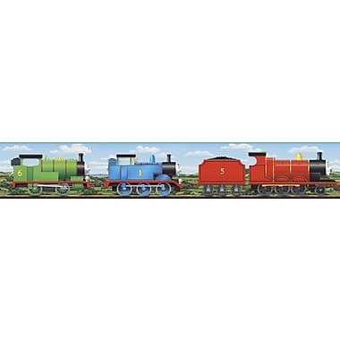 Inspired By Color™ Kids Thomas Scenic Border, Red With Blue/Green/Black/White/Yellow
