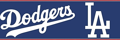 Inspired By Color™ Kids L.A. Dodgers Border, Blue With White/Red