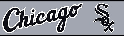Inspired By Color™ Kids Chicago White Sox Border, Gray With Black/White
