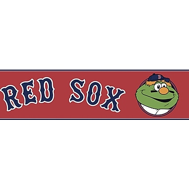Inspired By Color™ Kids Wally The Green Monster Border, Red With Navy/White/Green/Orange