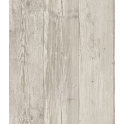 Inspired By Color™ Kids Wide Wooden Planks Wallpaper, Gray With Black/Off White