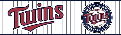 Inspired By Color™ Kids Minnesota Twins Border, White With Navy/Red