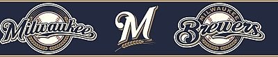 Inspired By Color™ Kids Milwaukee Brewers Border, Navy With White/Brown