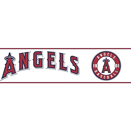 Inspired By Color™ Kids Angels Border, White With Red/Navy