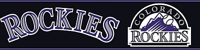 Inspired By Color™ Kids Colorado Rockies Border, Black With White/Navy/Gray