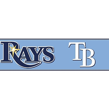 Inspired By Color™ Kids Tampa Bay Rays Border, Blue With Navy/White