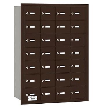 Salsbury Industries 28 Door Rear Load 4B Horizontal Mail Center; Bronze