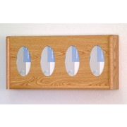 Wooden Mallet Four Pocket Glove and Tissue Box Cover; Light Oak