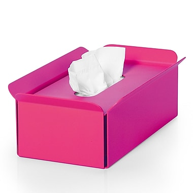 WS Bath Collections Complements Bandoni Free Standing Tissue Box Cover; Fuchsia