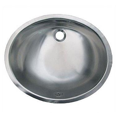 Whitehaus Collection Decorative Metal Oval Undermount Bathroom Sink w/ Overflow