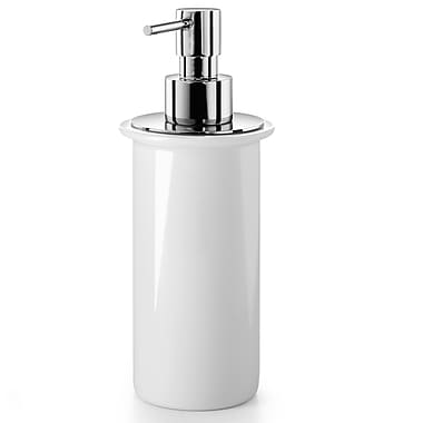 WS Bath Collections Noanta Soap Dispenser; Polished Chrome / Ceramic White