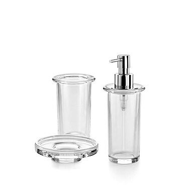 WS Bath Collections Saon 3-Piece Bathroom Accessory Set; Clear Glass