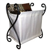 Pangaea Iron and Canvas Magazine Rack