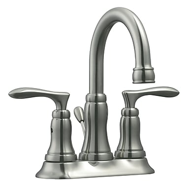 Design House Madison Double Handle Centerset Bathroom Faucet; Satin Nickel