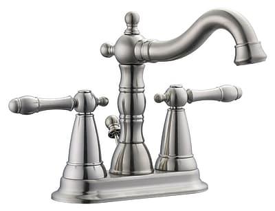Design House Oakmont Centerset Bathroom Faucet; Satin Nickel