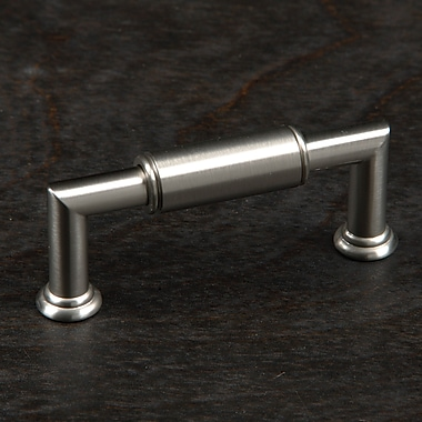 Rk International Cylinder 3'' Center Bar Pull; Satin Nickel