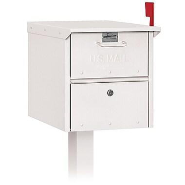 Salsbury Industries Locking Post Mounted Mailbox; White