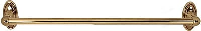 Alno Classic Traditional Wall Mounted Towel Bar; Polished Antique