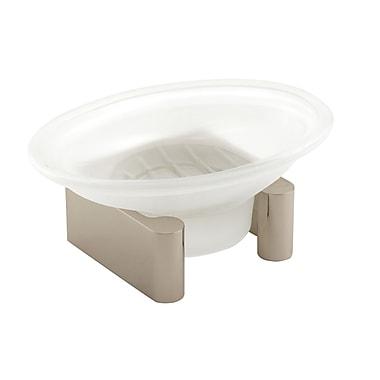 Alno Luna Counter Top Soap Dish; Polished Nickel