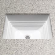 Toto Promenade Rectangular Undermount Bathroom Sink w/ Overflow; Ebony