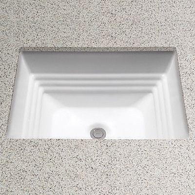 Toto Promenade Vitreous China Rectangular Undermount Bathroom Sink w/ Overflow; Ebony