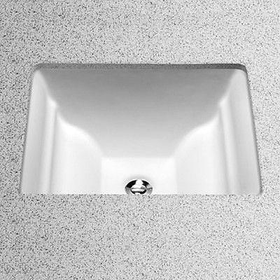 Toto Aimes Ceramic Rectangular Undermount Bathroom Sink w/ Overflow; Cotton
