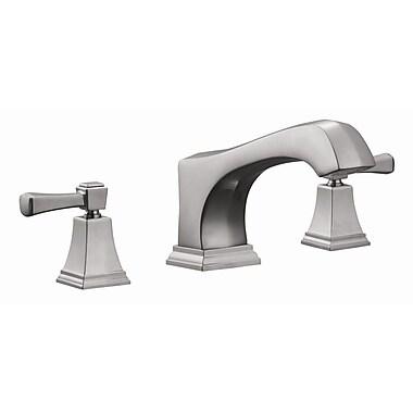 Design House Torino Roman Double Handle Hole Mount Tub Faucet Trim; Satin Nickel