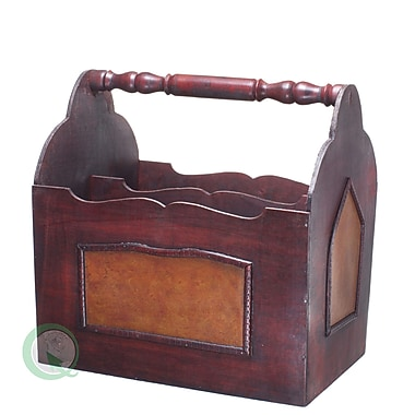 Quickway Imports Handcrafted Decorative Wooden Magazine Rack