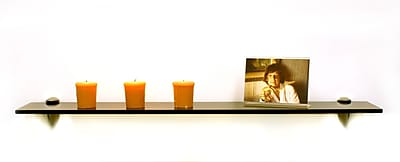 Spancraft Glass Floating Glass Shelves Sunbird Wall Shelf; Chrome